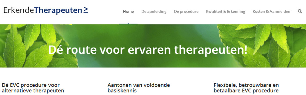 Erkendetherapeuten site
